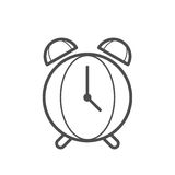 Clock icon. Outline clock icon ,  illustration for web design etc Stock Image