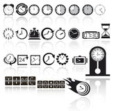 Clock icon set. Vector EPS10 Stock Photo