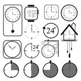 Clock icon set 2 Stock Images