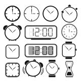 Clock icon set 1 Royalty Free Stock Images