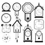 Clock icon set 2 Royalty Free Stock Photos