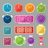Clock icon set 1 Royalty Free Stock Photo