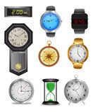 Clock icon set Royalty Free Stock Photography