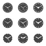 Clock Icon Set - Isolated Vector Illustration Royalty Free Stock Photos