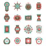 Clock Icon Set Stock Image