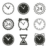 Clock icon set. Clock vector icons set. Black illustration isolated on white background for graphic and web design Vector Illustration