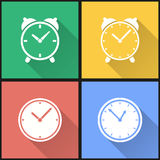 Clock icon set. Clock vector icons set. Illustration isolated for graphic and web design Royalty Free Stock Images