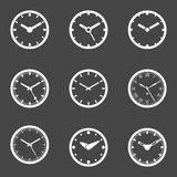 Clock Icon Set -  Vector Illustration Royalty Free Stock Photo