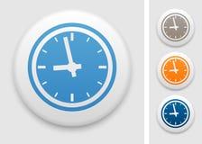 Clock icon. Clock symbol on round button Stock Photo