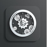 Clock icon vector Stock Photos
