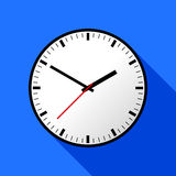 Clock icon, Vector illustration, flat design EPS10 Royalty Free Stock Photos