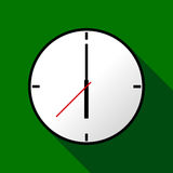 Clock icon, Vector illustration, flat design EPS10 Stock Photos