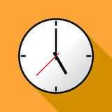 Clock icon, Vector illustration, flat design EPS10 Stock Image