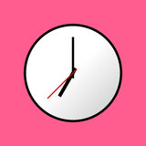 Clock icon, Vector illustration, flat design EPS10 Stock Images