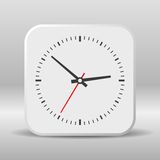 Clock icon on a white background. Vector Stock Photography