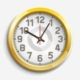Clock icon on white background. Stock Photo