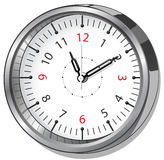 Clock icon on white background Royalty Free Stock Photography