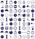 Clock icon on white Royalty Free Stock Photo