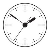 Clock icon. World time concept. Business background. Internet marketing. Daily infographic stock illustration