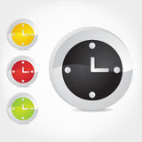Clock Icons. 3d-vector illustration of clock Icons Royalty Free Stock Image