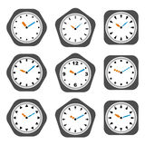 Clock icons Stock Photography