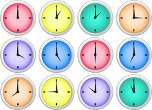 Clock icons Stock Photos