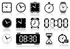 Clock icons Stock Photos