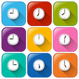 Clock icons Royalty Free Stock Photography