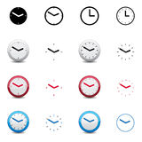 Clock icons. This image is a vector illustration. Clock icon color Stock Photo