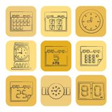 Clock icons Stock Image