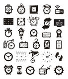 Clock icons set. Authors illustration in Royalty Free Illustration