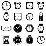 Clock icons set Royalty Free Stock Photo