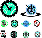 Clock icons Stock Image