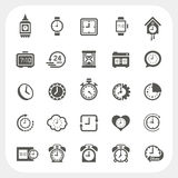 Clock icons set Royalty Free Stock Photo