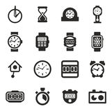 Clock Icons Set 2 Stock Photography