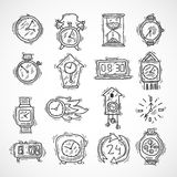 Clock Icons Set Stock Image