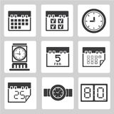 Clock icons Stock Images