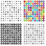 100 clock icons set vector variant. 100 clock icons set vector in 4 variant for any web design isolated on white Royalty Free Stock Photography