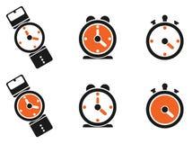 Clock icons Stock Photo