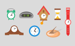 Clock icons vector set Royalty Free Stock Images