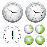 Clock illustration. 15 min interval timer icons Stock Photo