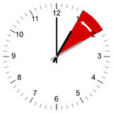 Clock Illustration End of Summer time. Illustration of a Clock being set from 3:00 to 2:00 at the end of summer time in the US and other countries around the Royalty Free Stock Photo
