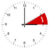 Clock Illustration End of Winter time Royalty Free Stock Photo