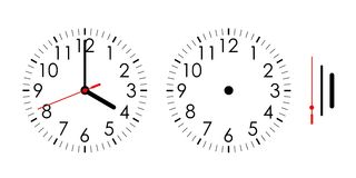 Clock. Illustration isolated on white background. Vector available Stock Photography