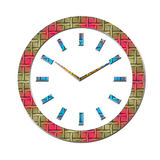 A clock. An illustration of a  weaved clock Stock Photos