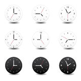 Clock. This image is a  illustration. Clock icon Stock Photos