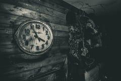 Clock. Inventory of ex Soviet civil defence Stock Photography