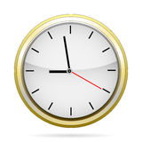 Clock in the iron casing.  Raster �2 Stock Photos