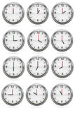 Clock in the iron casing. Raster �1 Royalty Free Stock Photos