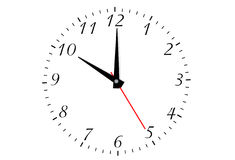 Clock isolated Royalty Free Stock Image